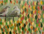 Harlequin Doves Painting