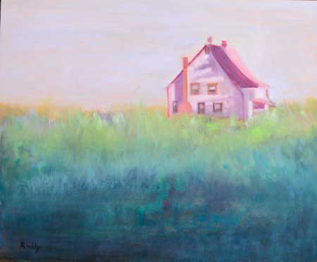 The Pink House Painting