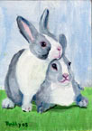 Easter Rabbit #4 Oil Painting