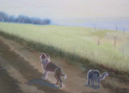 Morning Walk Oil on Canvas