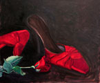 Red Shoes and Red Rose Painting