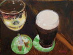 A Guinness and a Chardonnay Painting