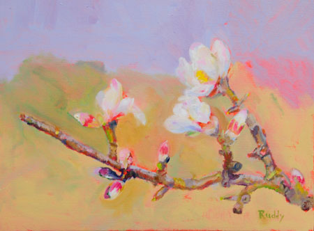 Almond Blossoms Oil on Canvas