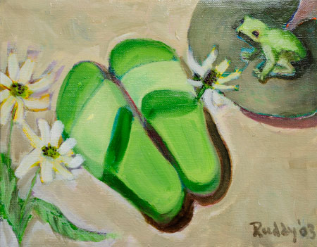 Summer Sandals - Oil on Canvas