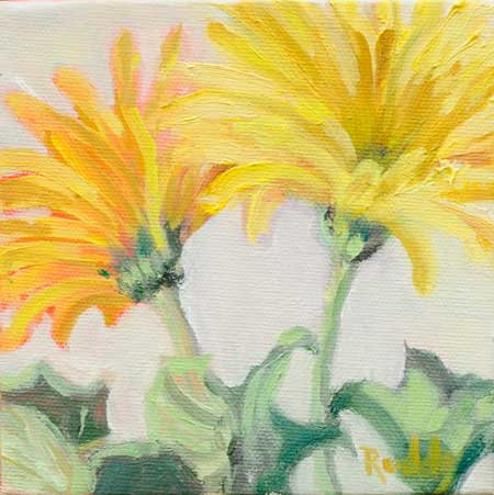 Yellow Gerbera Daisies Painting