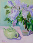 Frogpot and Lilacs Painting