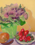 Radishes and Cabbage Plant Painting
