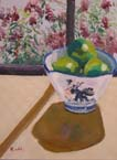 Limes in a Chinese Bowl Painting